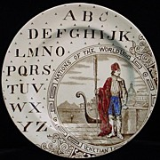 SALE Nations of the World ~ ABC Plate ~ Venetian 1880