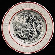 SALE ABC Franklin's Maxim Plate 1850