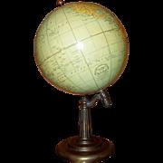 "SALE 1920's Rand McNally 8"" Terrestrial Globe"