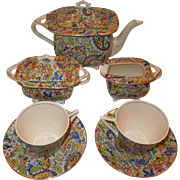 SALE Swinnertons Hampton Ivory Paisley Chintz Tea Set