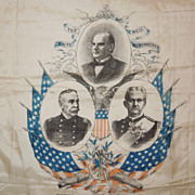SALE 1898 The Maine Well Remembered Silk Handkerchief