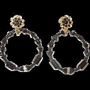 SALE Vintage Early  Miriam Haskell Earrings