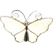 David Anderson Sterling Silver and Enamel Butterfly Pin Norway