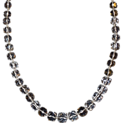 Art Deco Crystal with 14K Clasp Necklace