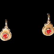 SOLD Victorian 14K Front Hook Earrings