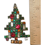 SOLD Vintage Weiss 5 Candle Christmas Tree Brooch