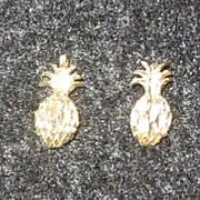 Vintage 14K Pineapple Post Earrings