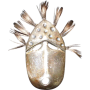Sterling Silver Northwest Indian Mask Brooch/Pin