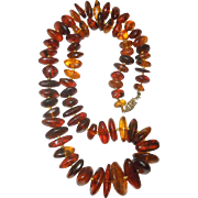 Natural Baltic Amber Necklace 22""