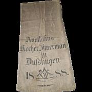 European Feed/Grain Sack 1888