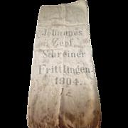 1904 European Feed/Grain Sack