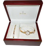 Vintage Bulova Ladies Watch and Bracelet Set