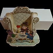 Antique German 3D Three Dimensional Valentine Card, Kewpie Face Children