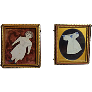 Handmade Paper Doll And Dress Tintype Frame