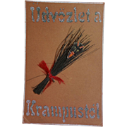 Antique Krampus Postcard, Real Switches, Used
