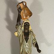 Vienna Bronze of a Native Woman Carrying a Jar - Franz Bergmann