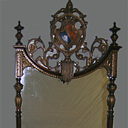 Extraordinary Edwardian Wall Mirror with Family Crest