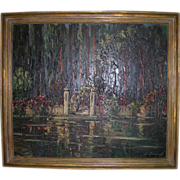 Large Orientalist Painting Well Listed Russian Artist L. Gechtoff