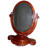 Grand Victorian Dressing Mirror In Mahogany