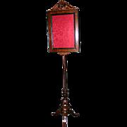 Victorian Pole Fire  Screen In Walnut