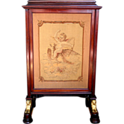 Egyptian Revival Adjustable Fire Screen