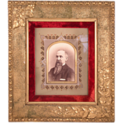SOLD Superb Aesthetic Movement Frame With a Photograph of a Bearded Man