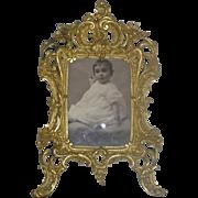 SOLD Ornate Gold Gilt Brass Photo Frame