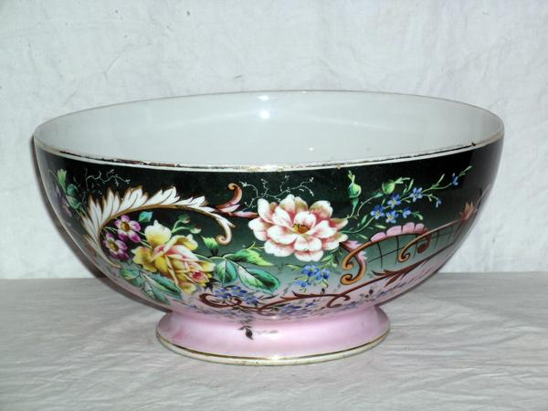 Mid 19th Century, Centerpiece Pedestal  Punch Bowl