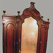 Spectacular Rosewood Triple Armoire In A Moorish Taste