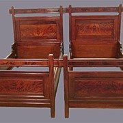 Rare Pair of Victorian Beds