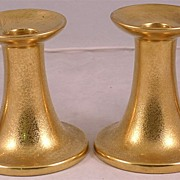 Pair Stoufffer Studio Gilded Candle Sticks