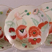 Artist Signed Rosenthal Poppy Plates