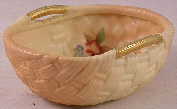 Antique Royal Worcester Woven Bowl
