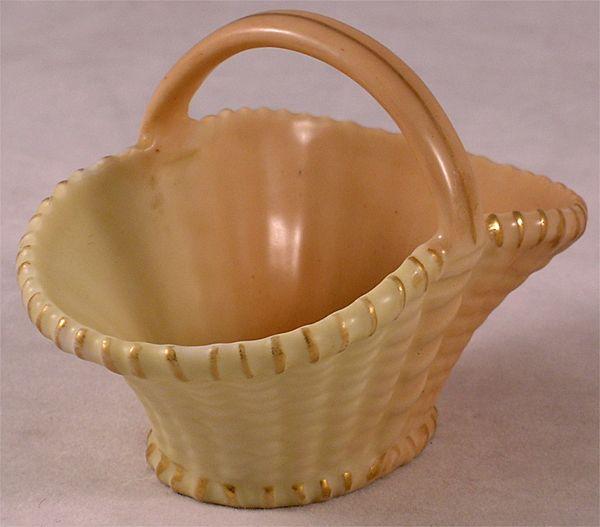 Antique Royal Worcester Woven Porcelain Basket