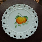 Vintage Hand-Painted  Plate *Peaches