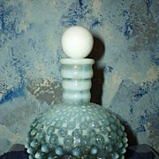 Beautiful White Hobnail Cologne Bottle