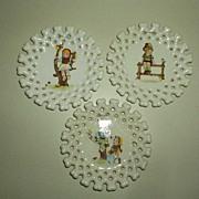 Set of 3 HEIDI  Wall Porcelain Plates