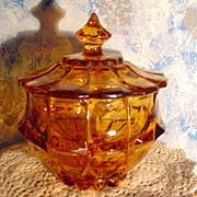 Indiana Amber Glass Candy Dish