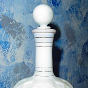 Vintage Milk Glass Perfume Bottle