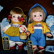 Effanbee Half-Pint Twin Swiss Yodelers Boy and Swiss Yodelers  Girl