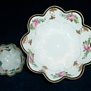 Pair of 2  Hand-Painted Nippon Candy/Salt  Dishes