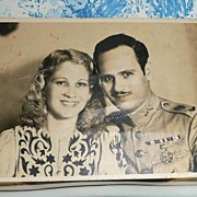 1942 Picture/Post Card of Cuba Military Officer with Wife