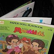 1983 Monchhichi Paper Doll Playbook *Uncut