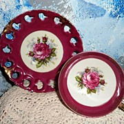 Deep Pink English Tea Roses Cup Duo