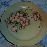 Beautiful Flowers Signed   Hand-Painted Decorator Plate