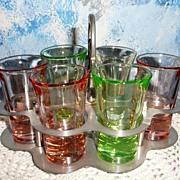 Depression Glass Liquor Set with Tray