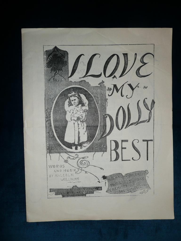 'I Love  My Dolly Best'  Music Sheet by Malcolm Williams