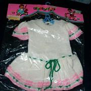 "1960 PREMIER Doll Tog Knitted Dress for 20-21"" Dolls"