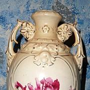 Austria Tall  Red Tulip Vase