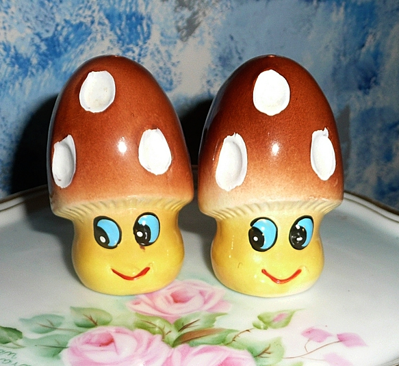 Funny Mushrooms Set of Shakers